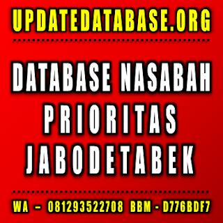 Jual Database Nasabah Prioritas Jabodetabek