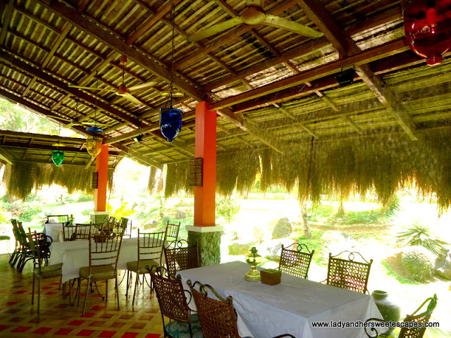 inside the restaurant of Rafael's Farm