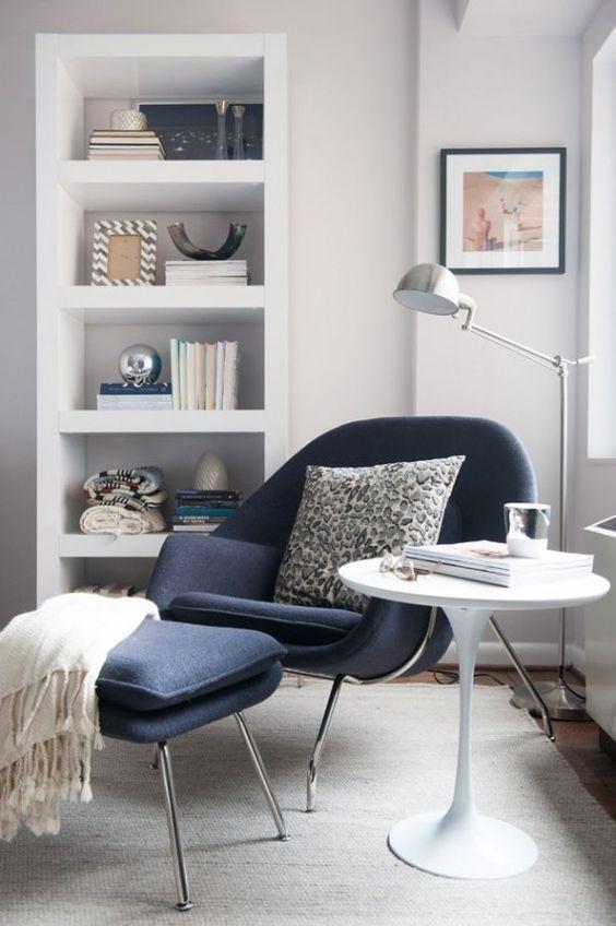 Poltrona é um ótimo item para um ambiente relaxante.