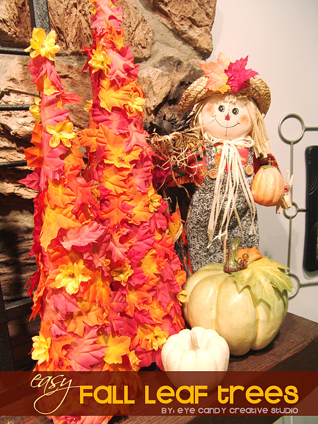 fall trees, pumpkins, scarecrow, fall mantel decorating, fall decor