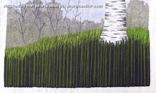 Under the Silver Birch (designed by Jo Butcher): Background grass completed