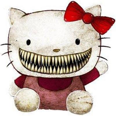 "Sejarah  Hello Kitty     Hello Kitty diciptakan oleh perancang dari Sanrio yang bernama Shimizu Ikuko pada tahun 1974 yang merupakan tahun kelahiran resmi Hello Kitty. Penjualan barang-barang Hello Kitty baru dimulai pada bulan Maret 1975. Barang Hello Kitty pertama dipasarkan berupa dompet kecil yang disebut Puchi Purse dengan harga 240 yen. Perusahaan Sanrio bahkan tidak lagi memiliki dompet Puchi Purse sampai mendapat sumbangan sebuah dompet Puchi Purse dari seorang kolektor yang sekarang dipamerkan di kantor perusahaan. Dompet Puchi Purse kemudian dibuat replikanya dan dijual sebagai barang dalam jumlah terbatas.  Karakter dalam barang Hello Kitty dari tahun 1974 sampai tahun 1975 belum diberi nama. Pada dompet Puchi Purse yang merupakan produk pertama hanya tertulis kata ""Hello!"" (tanpa tulisan ""Kitty""). Pada awalnya orang Jepang mengenal karakter Kitty White sebagai ""kucing putih tidak bernama,"" sampai akhirnya perusahaan memberi nama ""Kitty"" yang diambil dari nama kucing berbulu putih yang tampil dalam cerita Alice di Negeri Kaca (Through the Looking-Glass) oleh Lewis Carroll. Pada mulanya Kitty White tidak memiliki nama keluarga atau nama keluarganya tidak diumumkan, ""White"" sebagai nama keluarga baru ditambahkan di kemudian hari.  Pada produk-produk awalnya, Kitty selalu digambarkan sedang duduk dan baru pada"