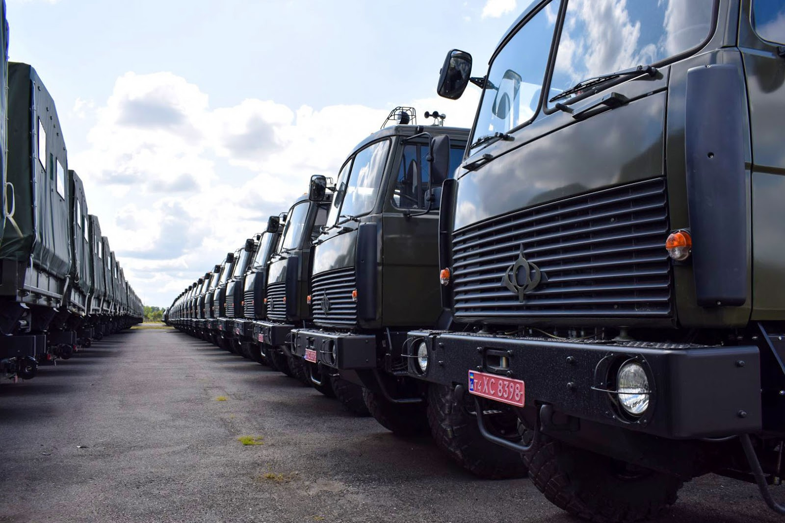 The Ukrainian Army has received almost a hundred trucks