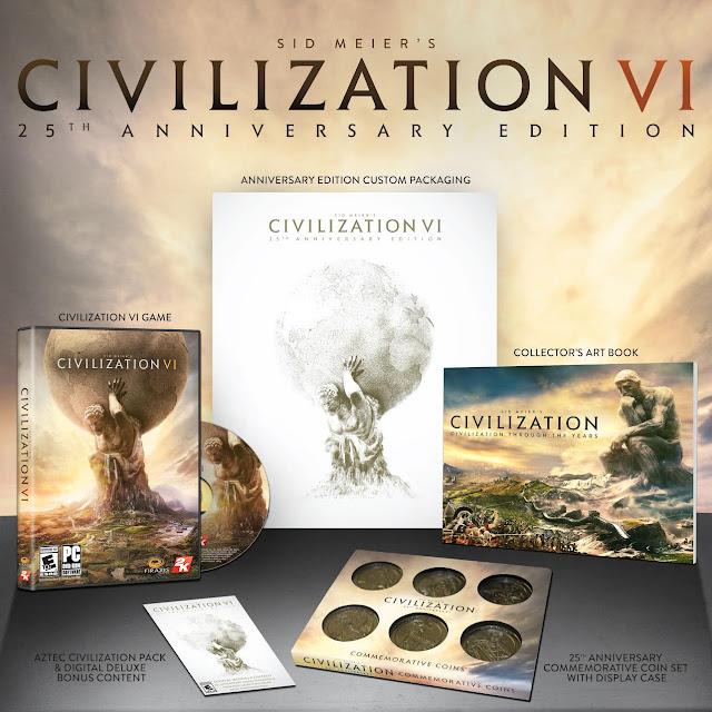 2K presenta la edición especial de Civilization VI con un expositor de monedas espectacular