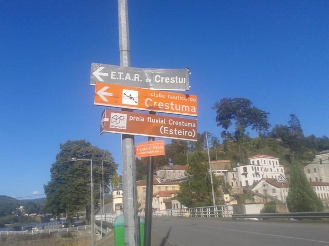 Placa Praia Fluvial Crestuma (Esteiro)