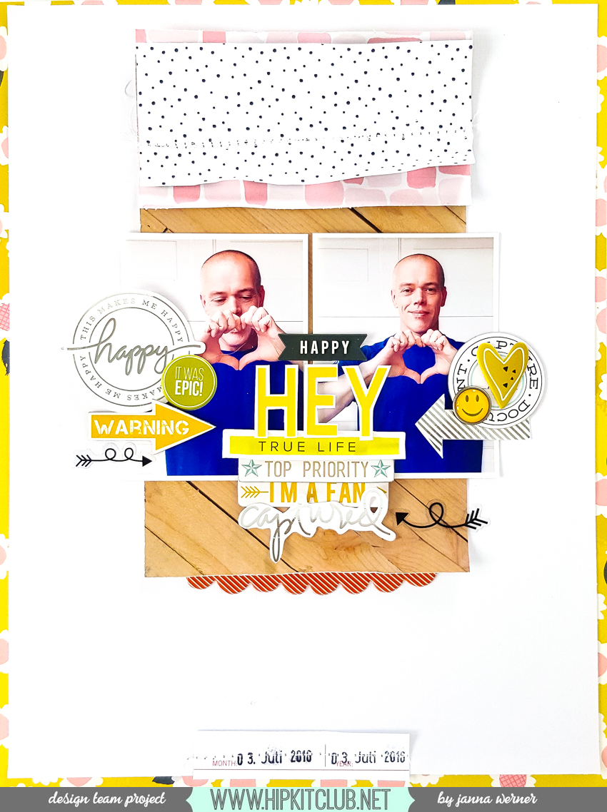 Scrapbooking Layout | Janna Werner for Hip Kit Club | Instagram: jannawerner