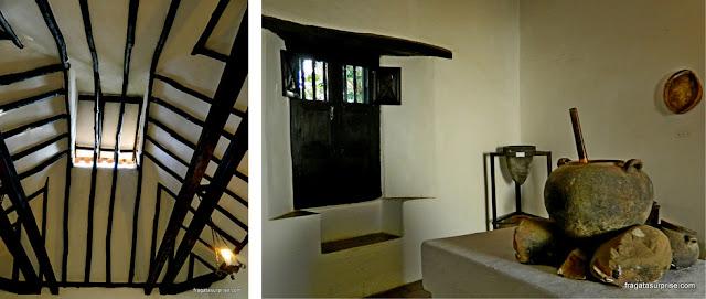 Cozinha do Século 18 na Casa Museu Antonio Ricaurte, Villa de Leyva, Colômbia