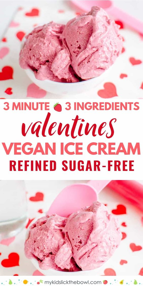 3 Minute Strawberry Vegan Ice Cream