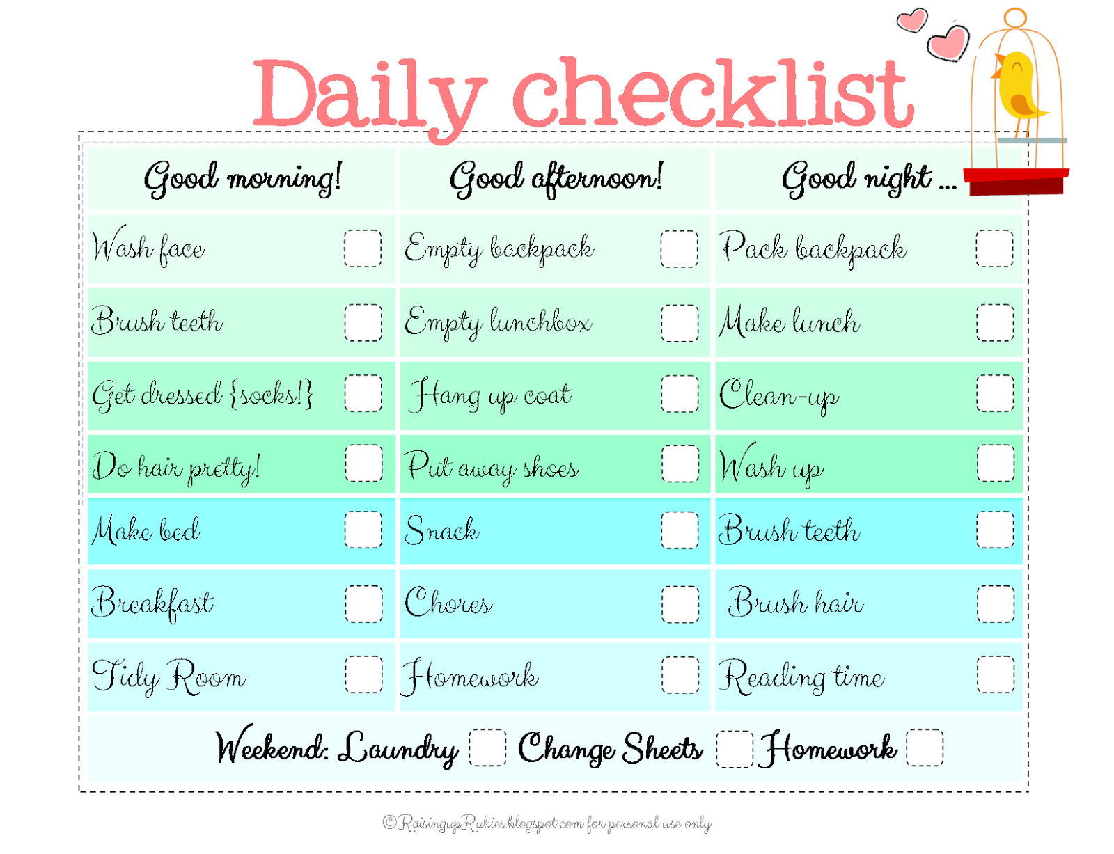 Create Your Own Personal Planner Raising Up Rubies Blog Back To School Checklist Free