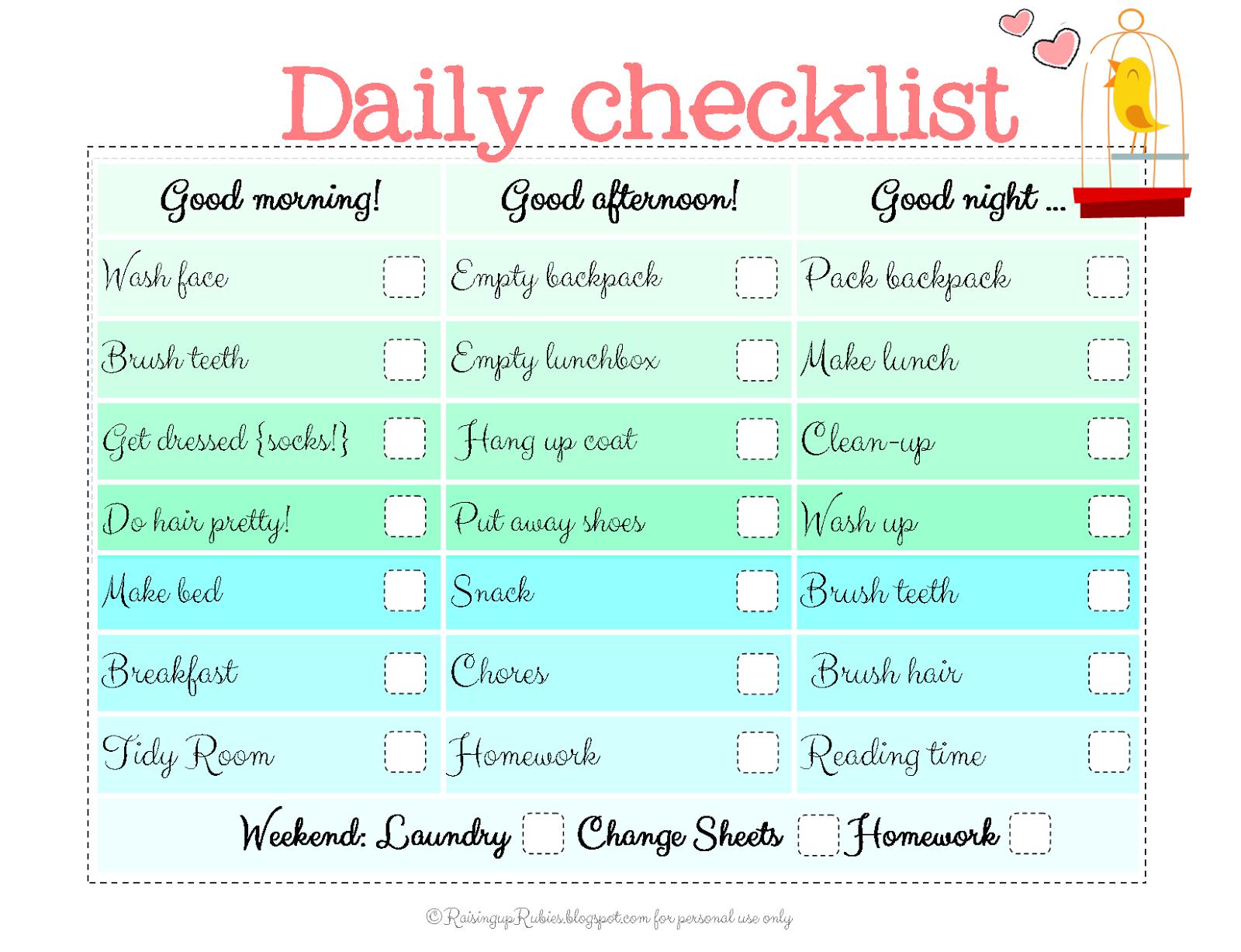 Raising Up Rubies Blog Back To School Checklist Free