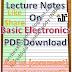 Lecture Notes on Basic Electronics PDF Download