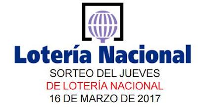 sorteo 21 de lotería nacional del jueves 16 de marzo de 2017