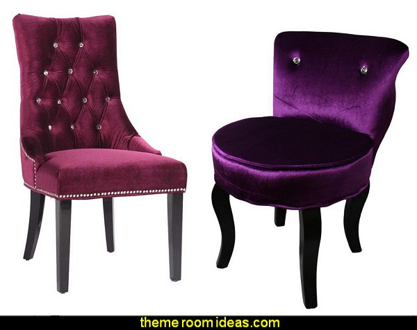 Glam Velvet Accent Chairs
