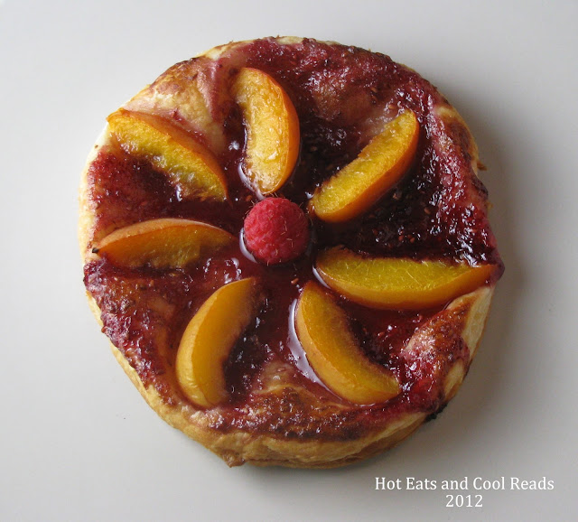 Apricot Fruit Tart Dessert Recipe from Hot Eats and Cool Reads! This Disney Channel summertime dessert is delicious and easy! It's a kid friendly recipe and the kiddos just love to make it!