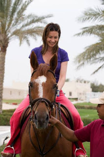 Ingrid Tence on horse