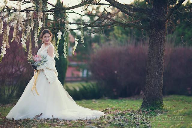 Jesienno-zimowy plener ślubny