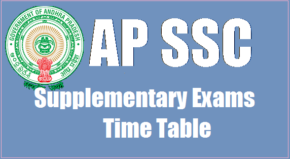 AP SSC 2019 Supplementary Exams TimeTable 10th Class June 2019 Exams