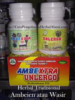 Jual Ambextra Unlergo Obat Herbal Ambeien/Wasir Khasiatnya herbal