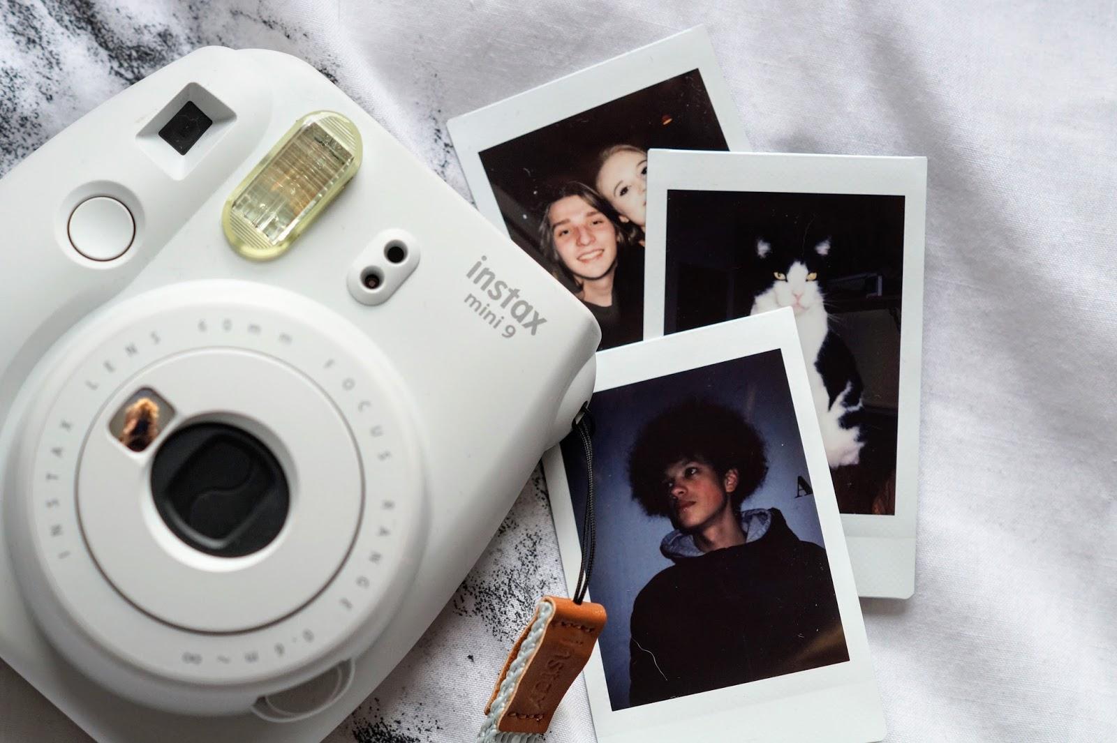 instax mini 9 camera with photos