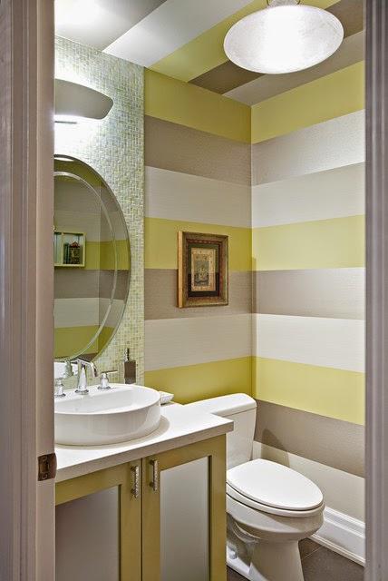 cuarto de baño a rayas