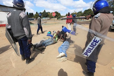 Zimbabwe police Harassing Protesters