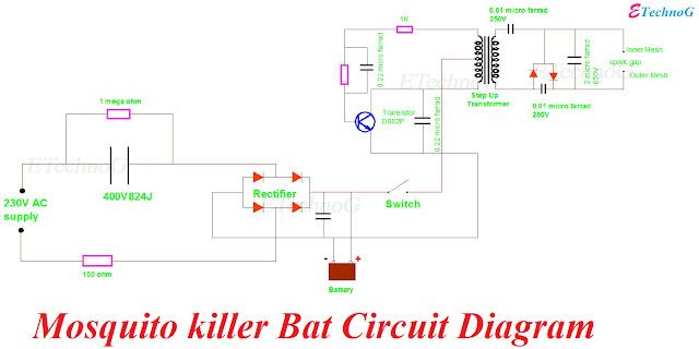 Mosquito Zapper Circuit
