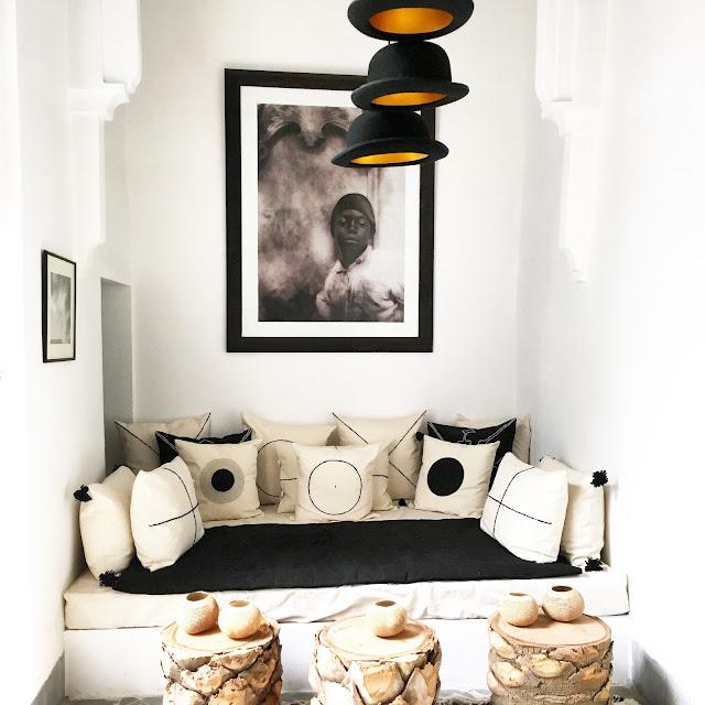 Petit salon / Linge de maison V.Barkowski / Riad Dar Kawa / No-Mad /