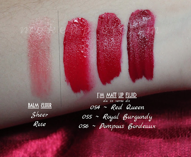 swatches i'm matt lip fluid balm elixir Red queen Pupa Milano