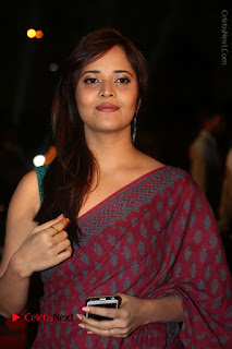 Telugu Television Anchor Anasuya Stills in Saree at Gemini TV Puraskaralu 2016 Event  0050.JPG