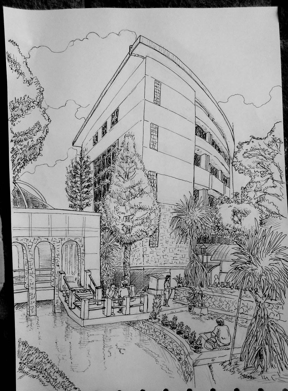 Sketsa Gedung Pasca UGM JaPiRensil