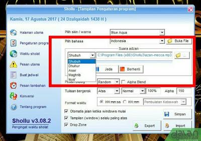 Shollu - Software Pengingat Shalat Terbaik untuk PC