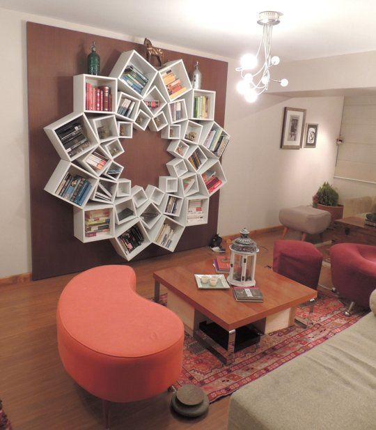 Cool Flower shaped Bookshelf design