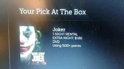 Joker Redbox DVD rental info