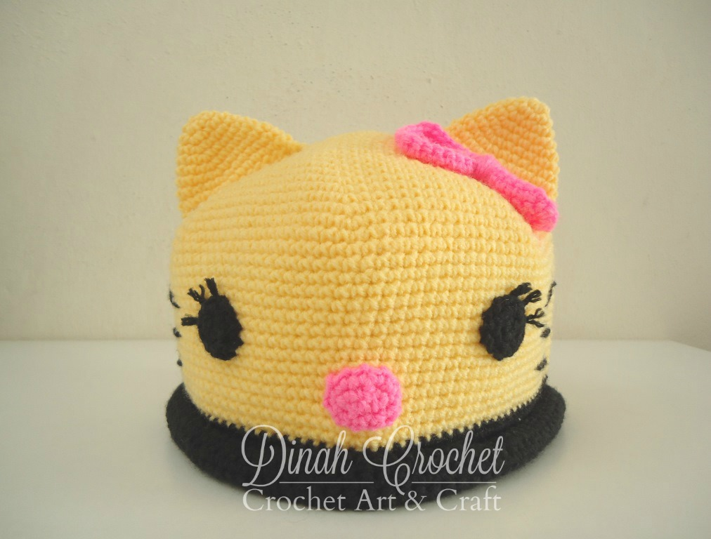 Knitting Topi Baby : Dinah crochet topi baby hello kitty