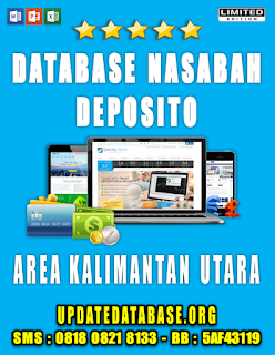 Jual Database Nasabah Deposito Kalimantan Utara