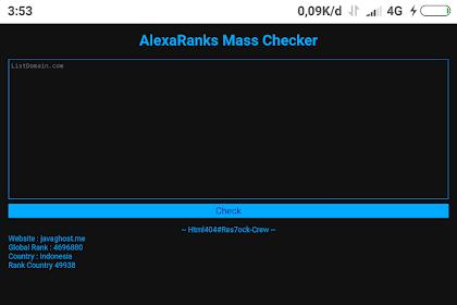 Download script Alexa mass rank by Html404#Res7ock-Crew