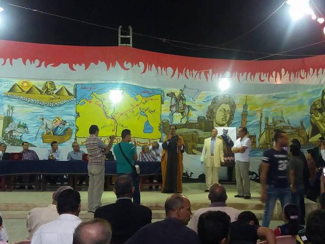 """شبيه """"السادات """" يلفت الأنظار فى احتفالية وطنية بميت غمر"""