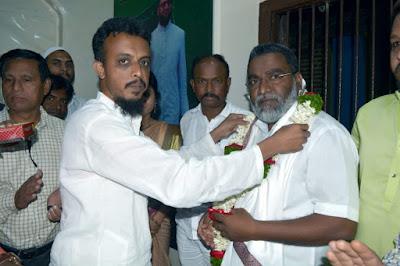 AIMIM's new West Maharashtra President and city president honored in Mominpura.SANATA NEWS