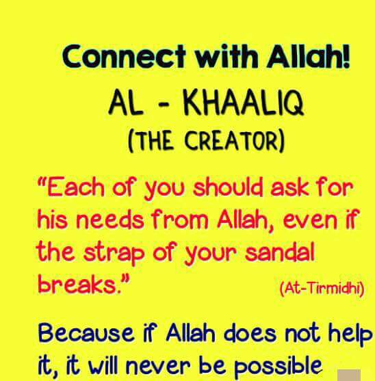 Connect with Allah!