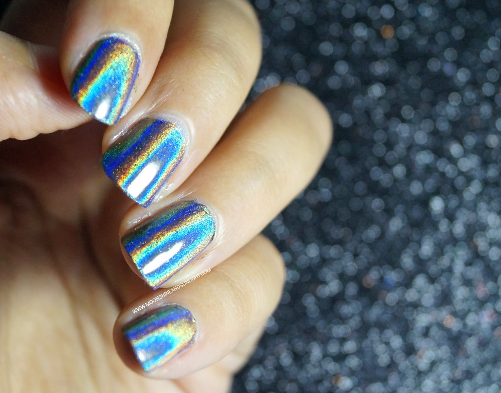 No Gel Holographic Nails with Sparkle & Co | How to