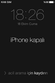 iphone etkin değil