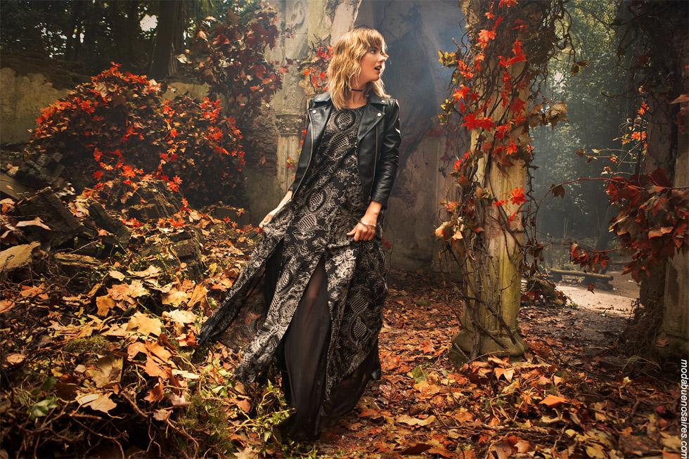 Vestidos otoño invierno 2019. Moda mujer ropa otoño invierno 2019.