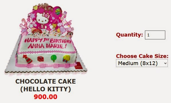 Medium Sized Hello Kitty Cake For Jollibee Party
