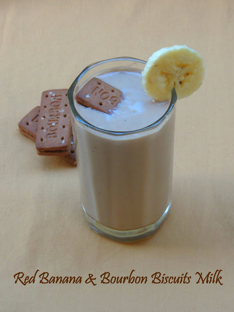 Red Banana & Bourbon Biscuits Milk