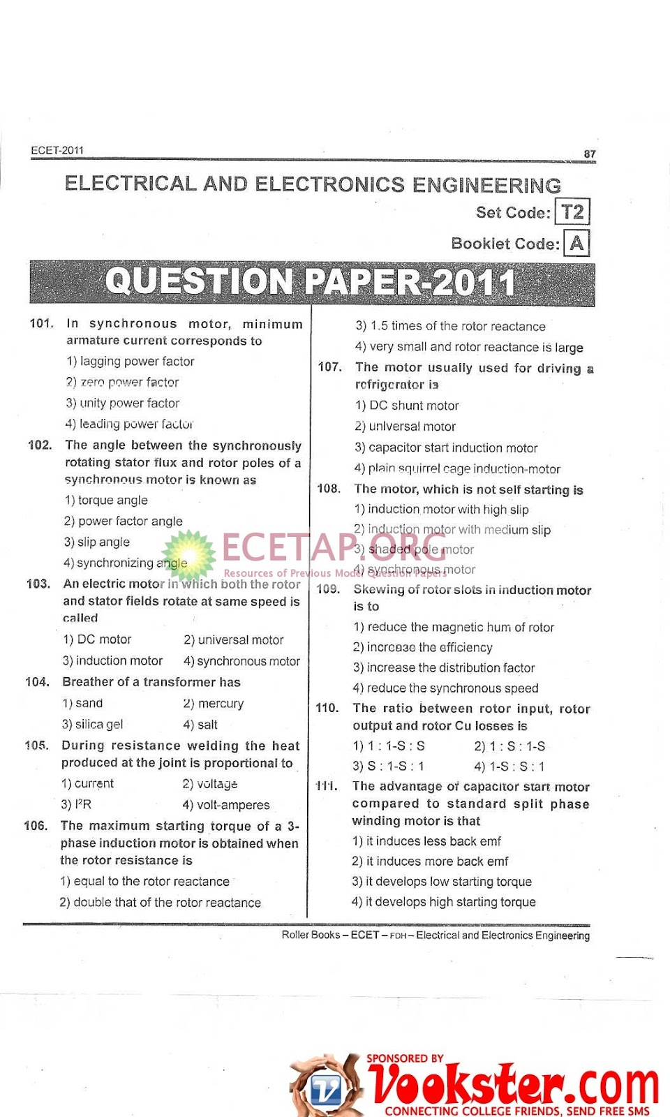 Ecet Model Papers Pdf