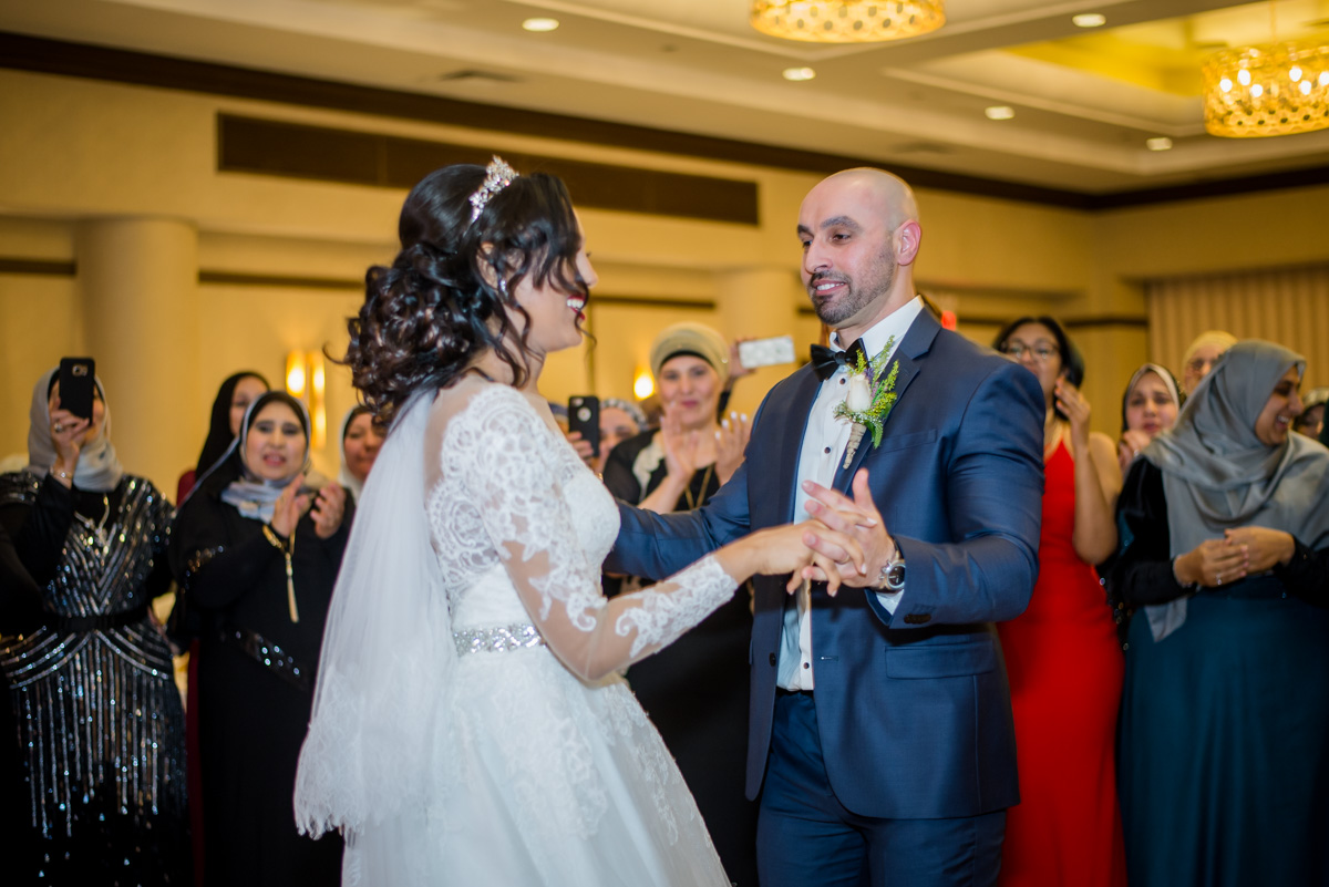 Beautiful Couple Enjoying Special Moments On The Dance Floor.