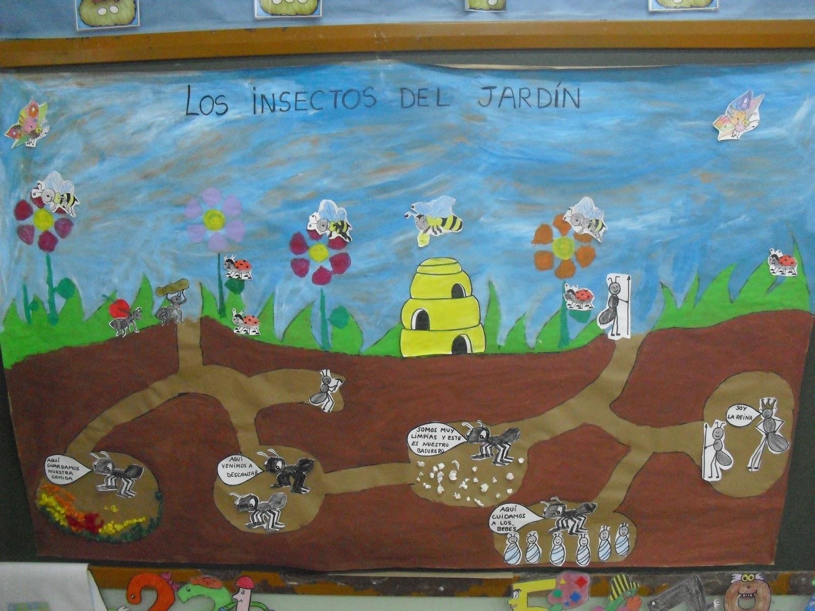 La ni a de las mariposas plantas e insectos del jard n for Insectos del jardin