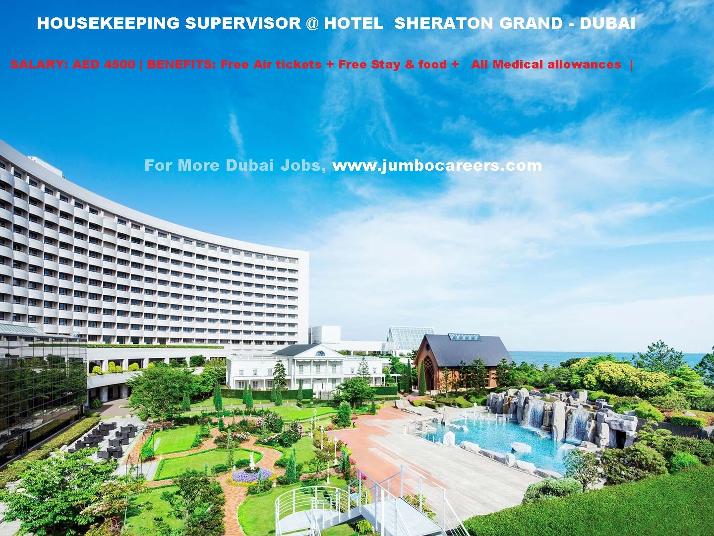 5 Star Hotel Sheraton Grand Marriot Dubai Housekeeping Job Vacancy