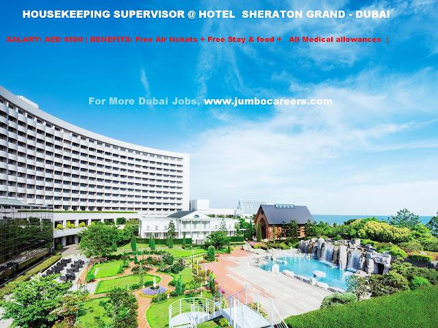 Marriot Dubai Housekeeping Job Opening, dubai 5 star hotel job