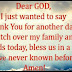 Dear God, I just wanted to say